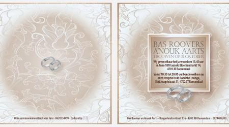 Trouwkaarten: Anouk Bas binnenzijdes