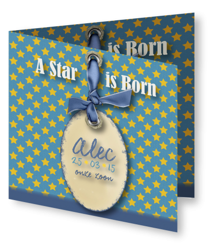 Geboortekaart Alec 3D