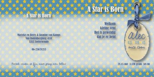 geboortekaarten: Alec binnenzijdes