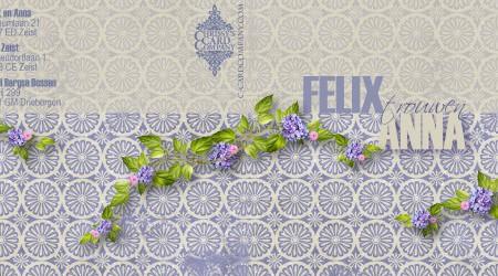 Trouwkaarten: Anna Felix voor en achterzijde