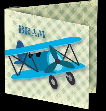 Geboortekaart Bram 3D