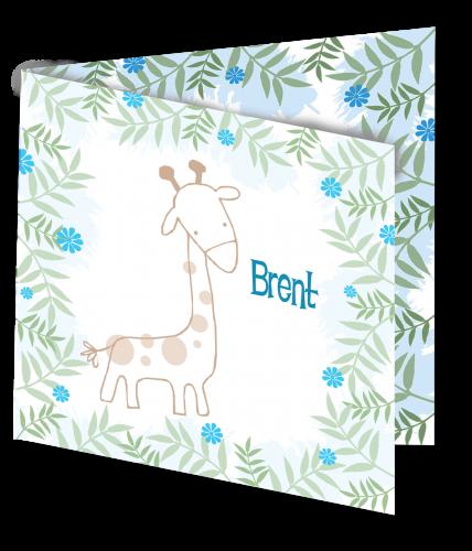 Geboortekaart Brent 3D