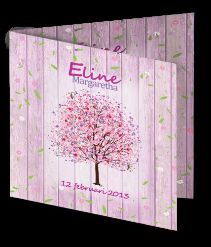 Geboortekaart Eline 3D