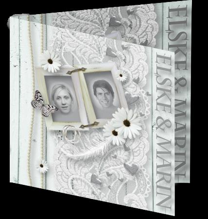 Trouwkaart Elske Martin 3D