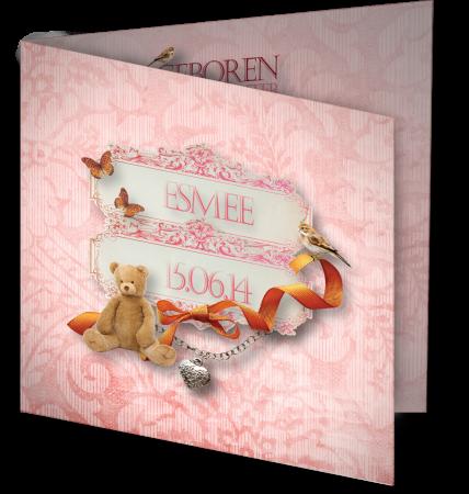 Geboortekaart Esmee 3D