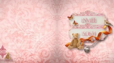 Geboortekaarten: Esmee voor/achterzijde