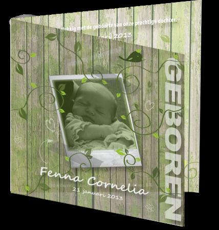 Geboortekaart Fenna 3D