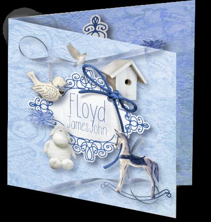 Geboortekaart Floyd 3D