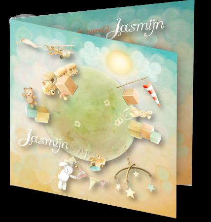 Geboortekaart Jasmijn 3D