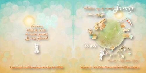Geboortekaart Jasmijn binnenzijdes