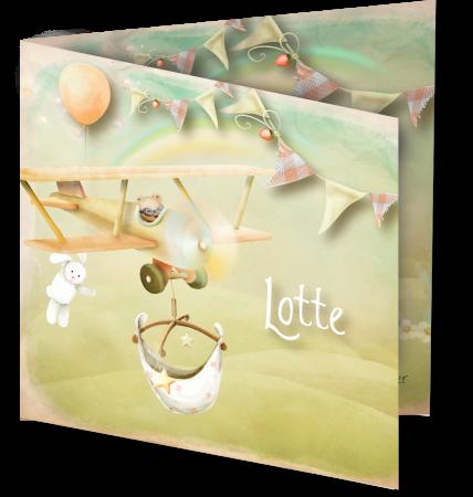 Geboortekaart Lotte 3D