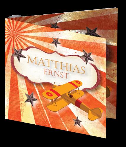 Geboortekaart Matthias 3D