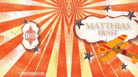 Geboortekaarten: Matthias voor/achterzijde