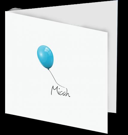 Geboortekaart Micah 3D