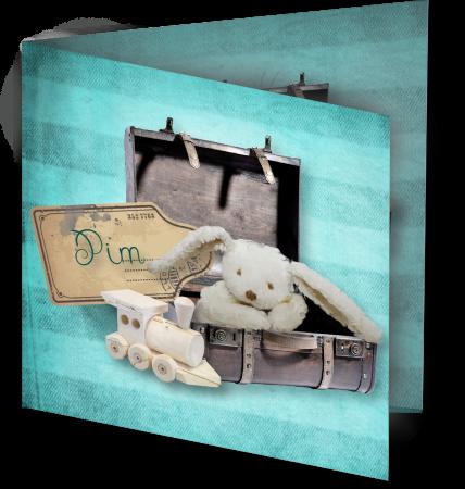 Geboortekaart Pim 3D