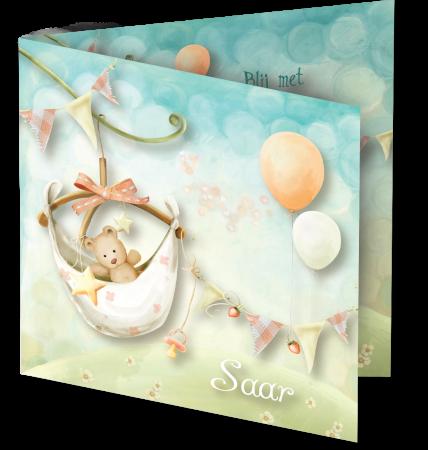Geboortekaart Saar 3D