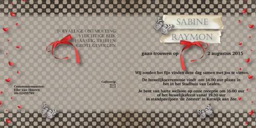 Trouwkaarten: Sabine Raymon binnenzijdes