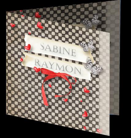 Trouwkaart Sabine Raymon 3D