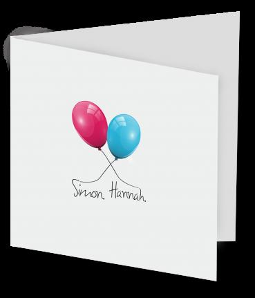 Geboortekaart Simon Hannah-3D