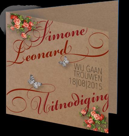 Trouwkaart Simone Lenard 3D
