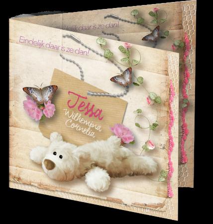 Geboortekaart Tessa 3D