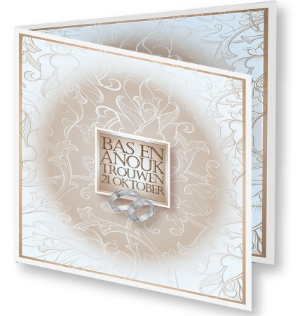Trouwkaart Anouk Bas 3D