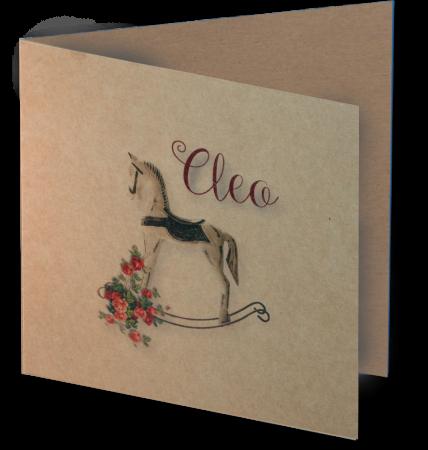 Geboortkaart Cleo 3D