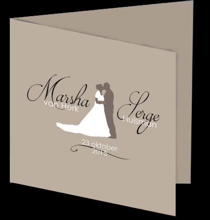 Trouwkaart Marsha serge 3D