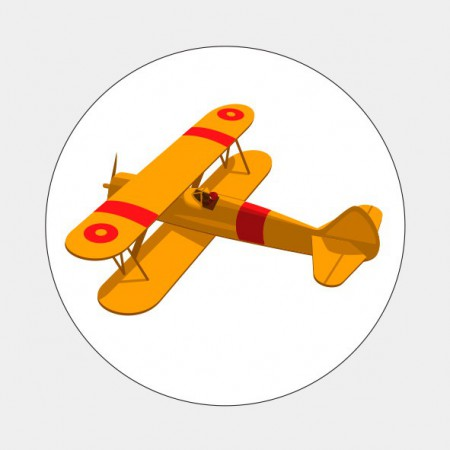 Sluitzegel Oranje vliegtuigje