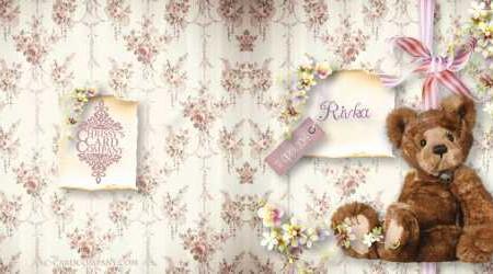 Geboortekaarten: Rivka voor/achterzijde