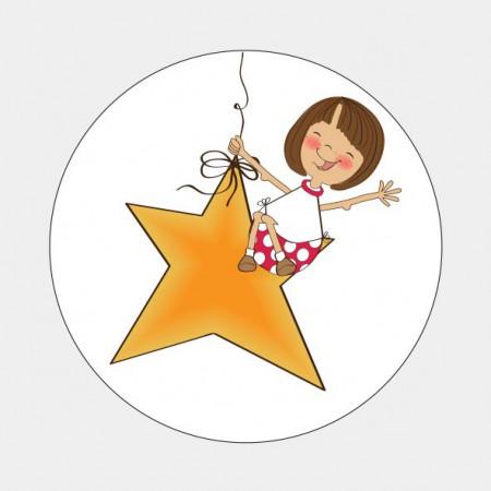 Sluitzegel meisje op ster
