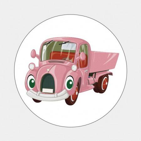 Sluitzegel Roze autootje