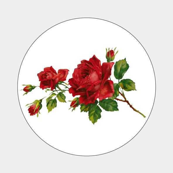 Sluitzegel Vintage roosje