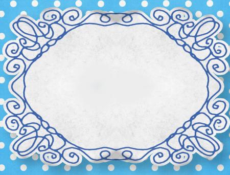 Adressticker Blue dots