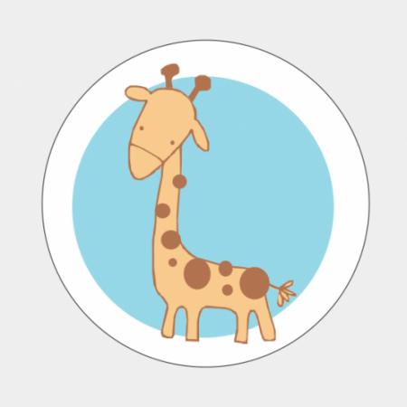 Sluitzegel Giraf blauw