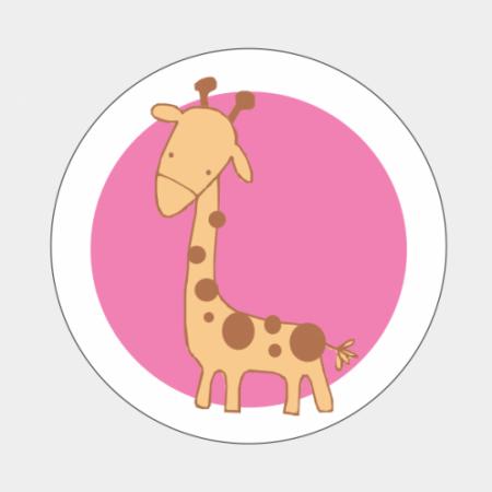 Sluitzegel Giraf roze