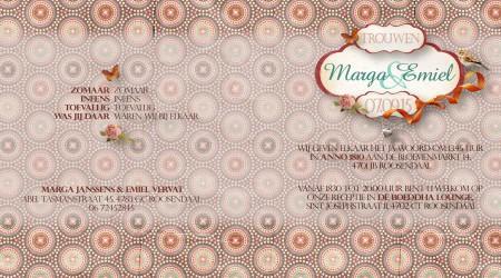 Trouwkaarten: Marga Emiel binnenzijdes