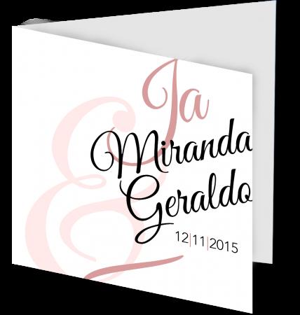 Trouwkaart Miranda Geraldo 3D