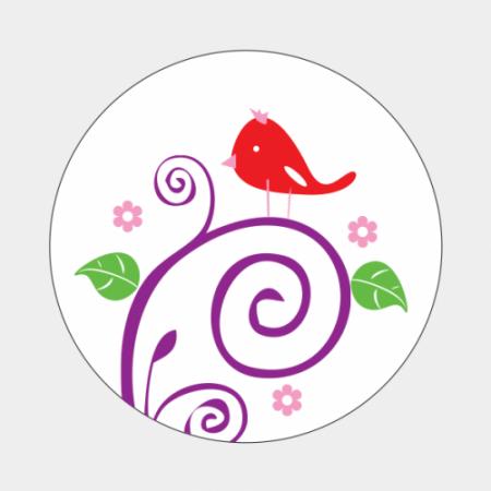 Sluitzegel Rood vogeltje