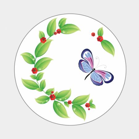 Sluitzegel Tak met vlinder