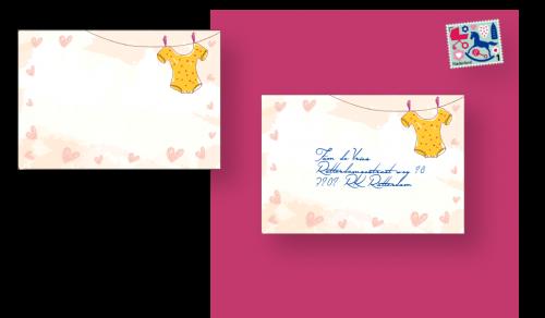 envelop met adressticker