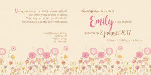 Geboortekaart Emily binnenzijdes