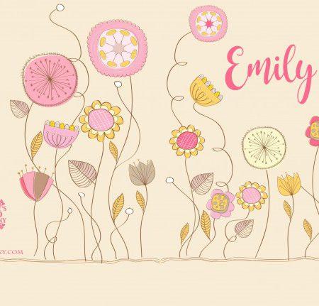 Geboortekaart Emily voor/achterzijde
