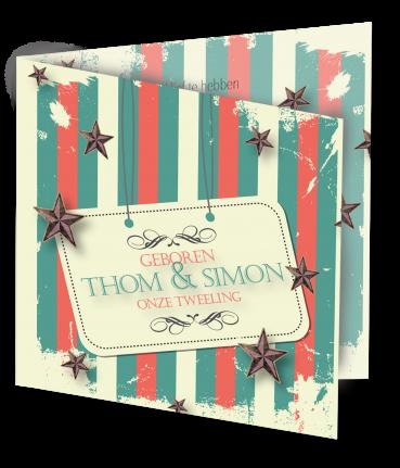 Geboortekaart Thom Simon-3D